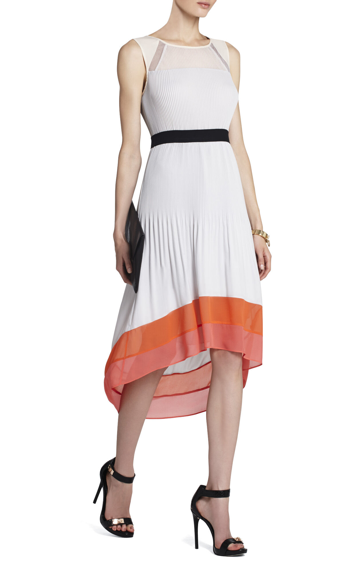 Alicia Pleated High-Low Dress