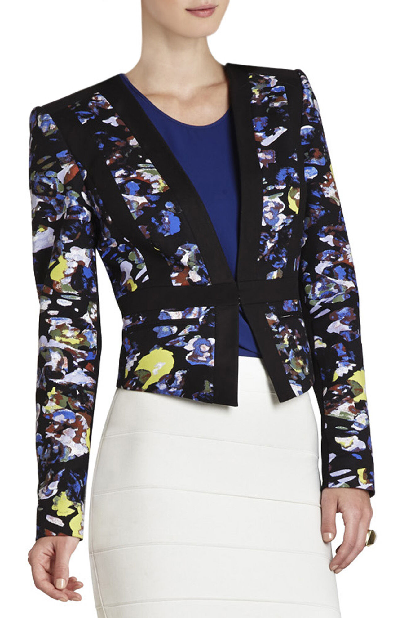 Keeley Print-Blocked Jacket