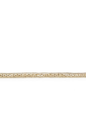 Skinny Stone-Detail Chain Buckle Waist Belt