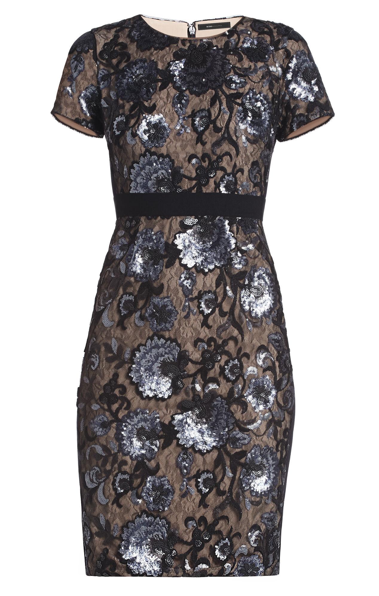 Kristan Short-Sleeve Sheath Dress