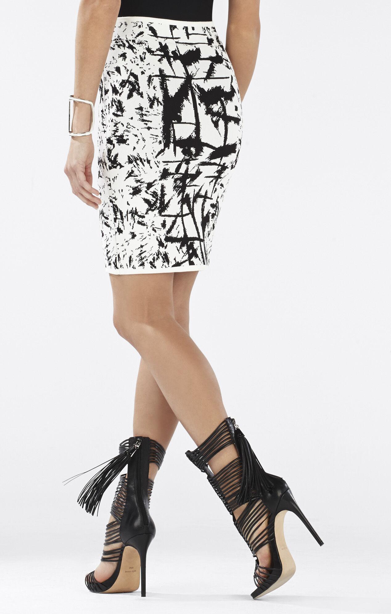 Pavel Jacquard Pencil Skirt