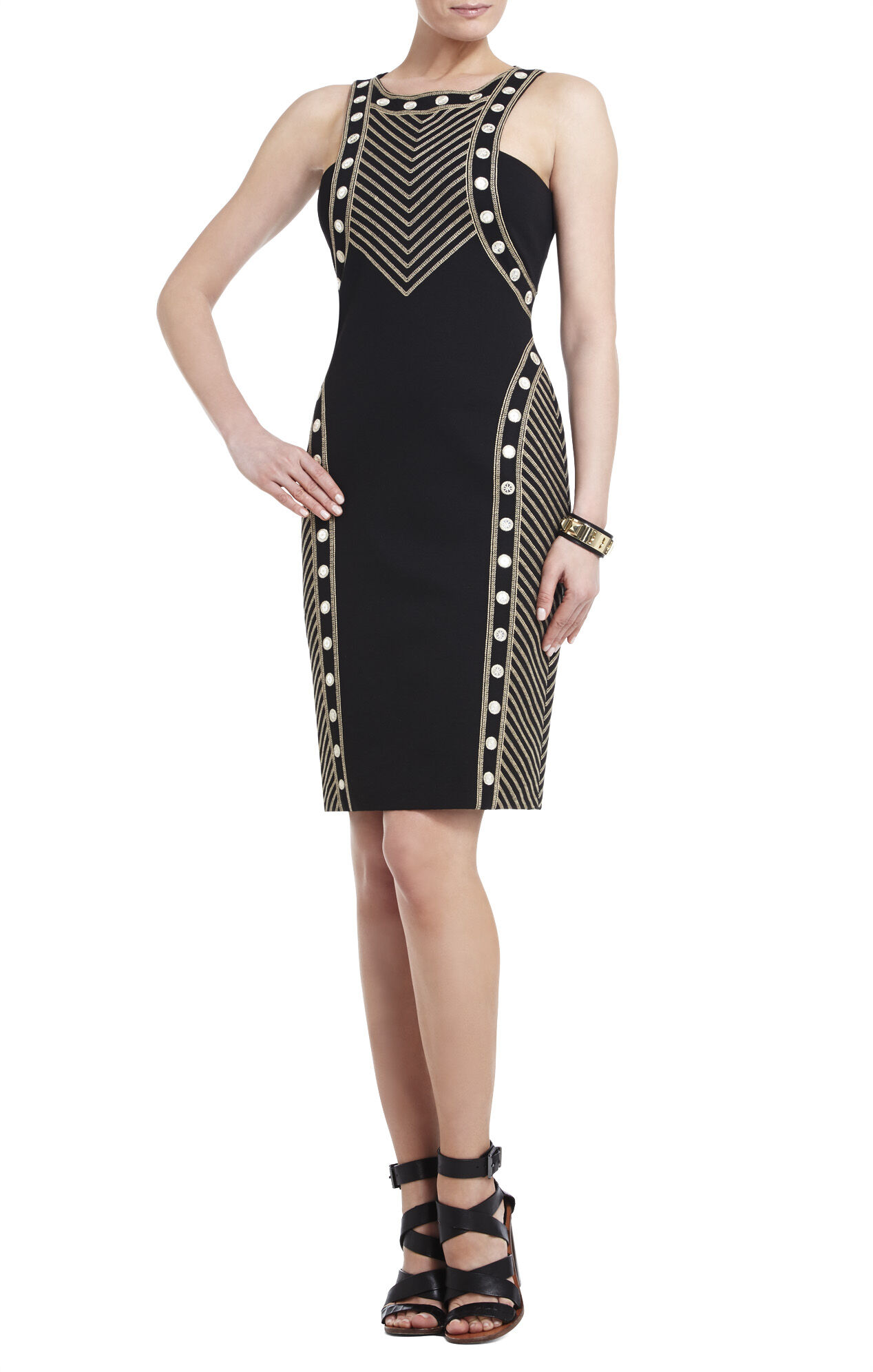 Gabriella Mirror-Embroidered Sheath