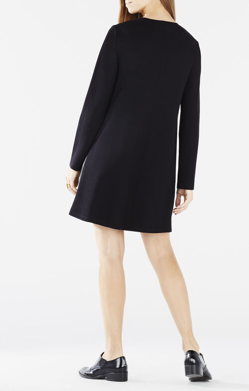 Farrah Long-Sleeve A-Line Dress