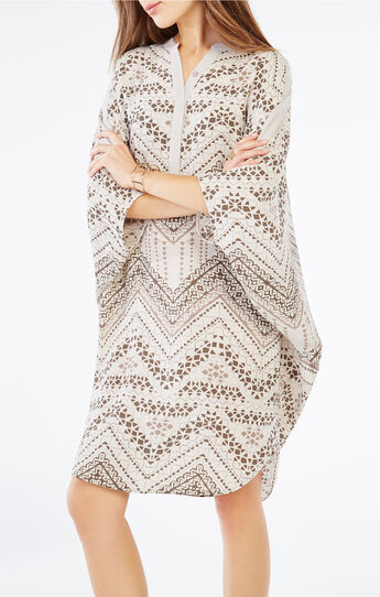 Stela Geometric Print Tunic Dress