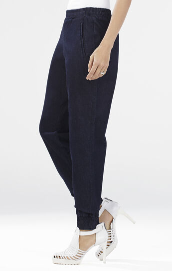 Sami Woven Denim French Terry Sweatpant