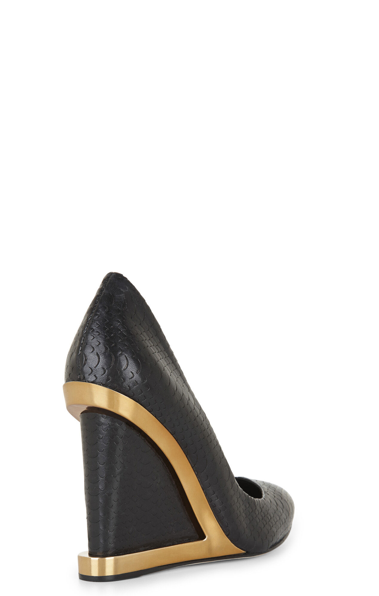 Ardust Snake Metallic-Trimmed Wedge
