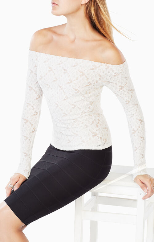 Alanis Off-The-Shoulder Lace Top