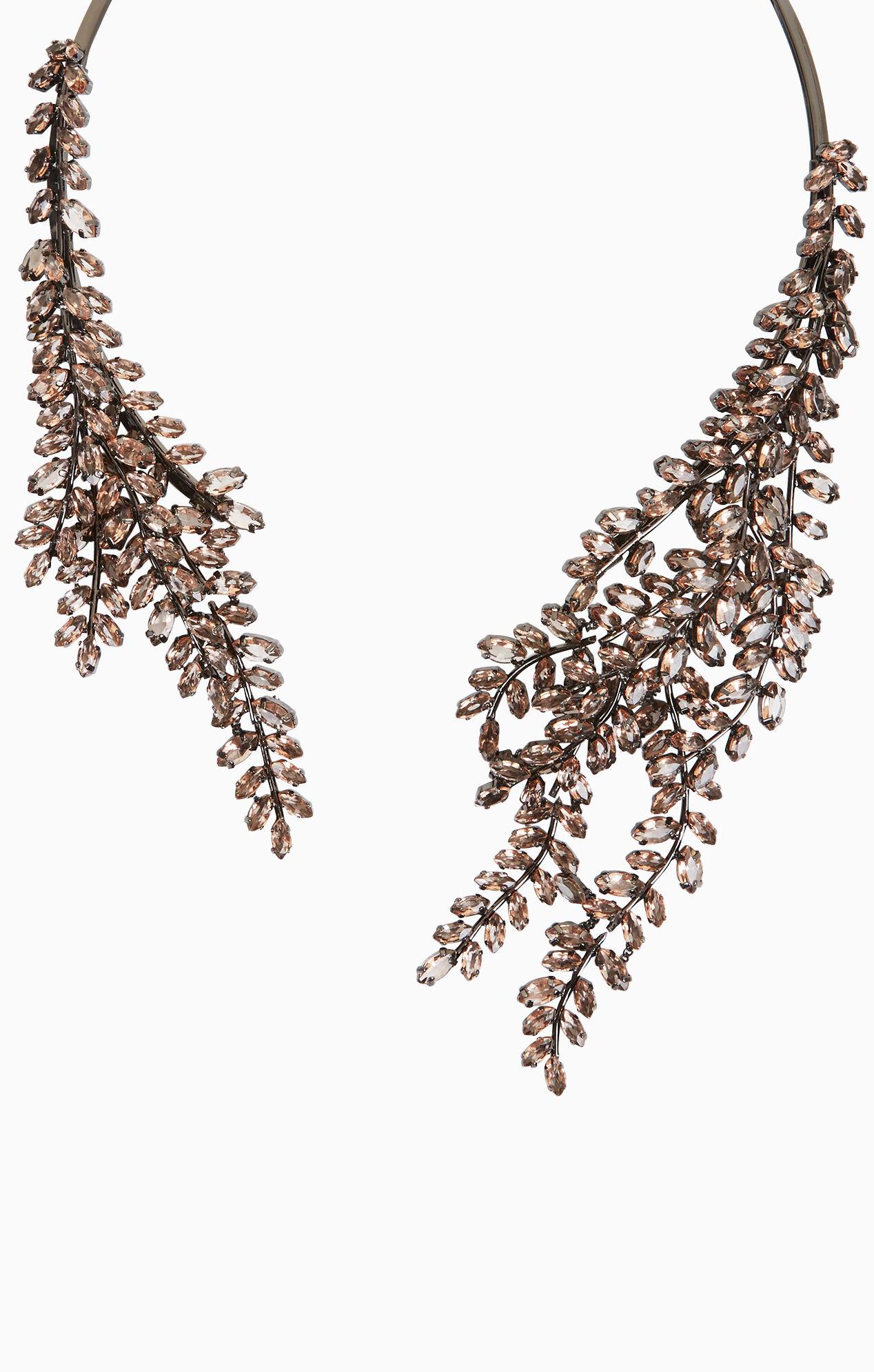 Asymmetric Stone Collar Necklace