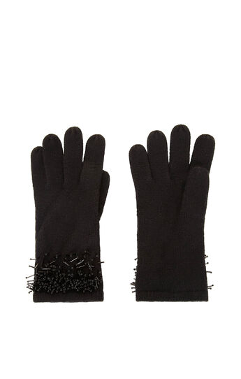 Beaded Fringe Gloves