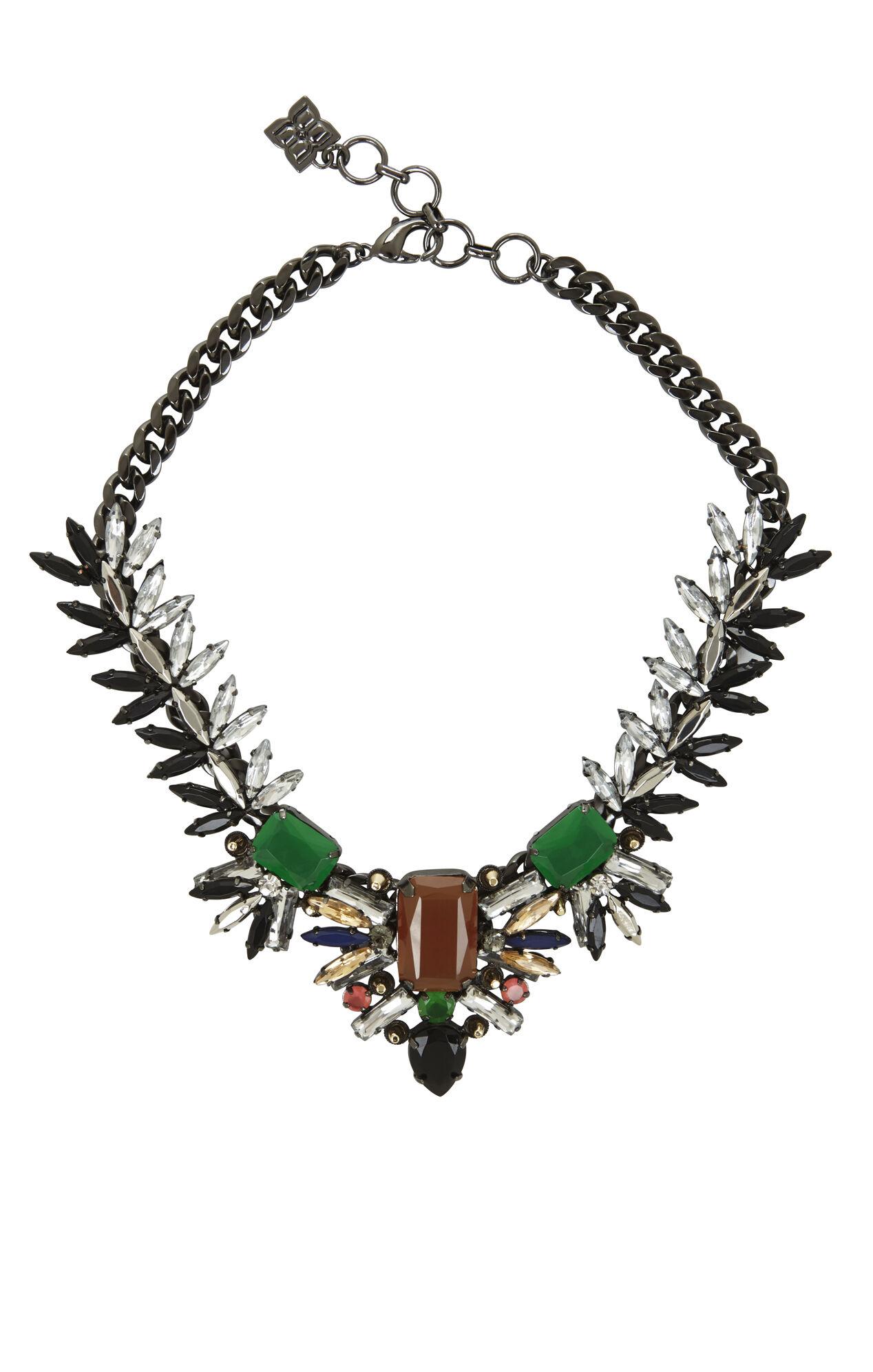 Spiked Gemstone Necklace
