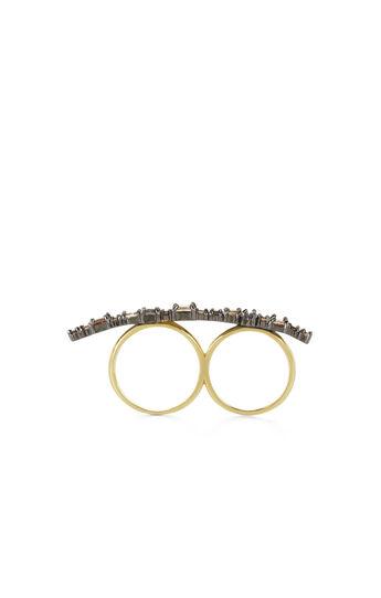 Multi-Stone Double-Finger Ring
