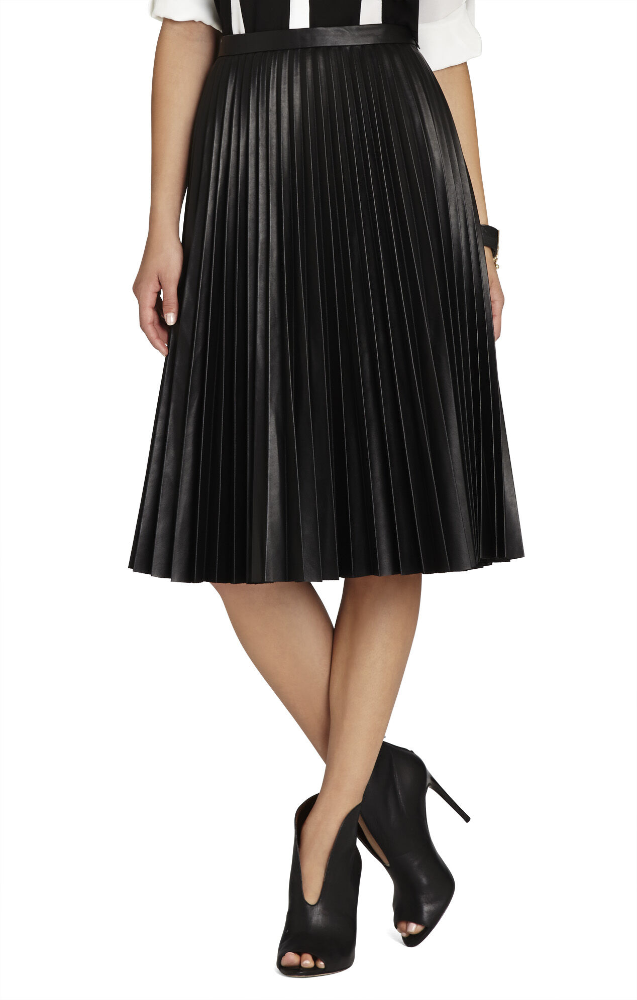 Elsa Sunburst-Pleated Skirt