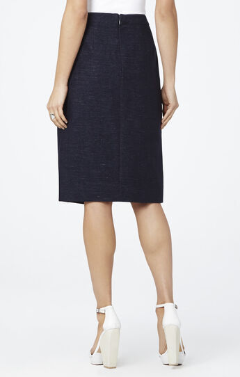 Grayce Contrast Trim Pencil Skirt