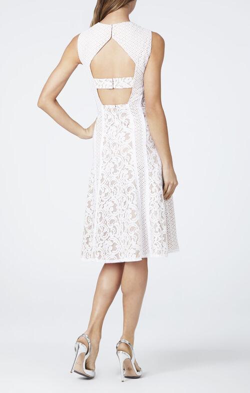 Avril Sleeveless Lace-Blocked Dress