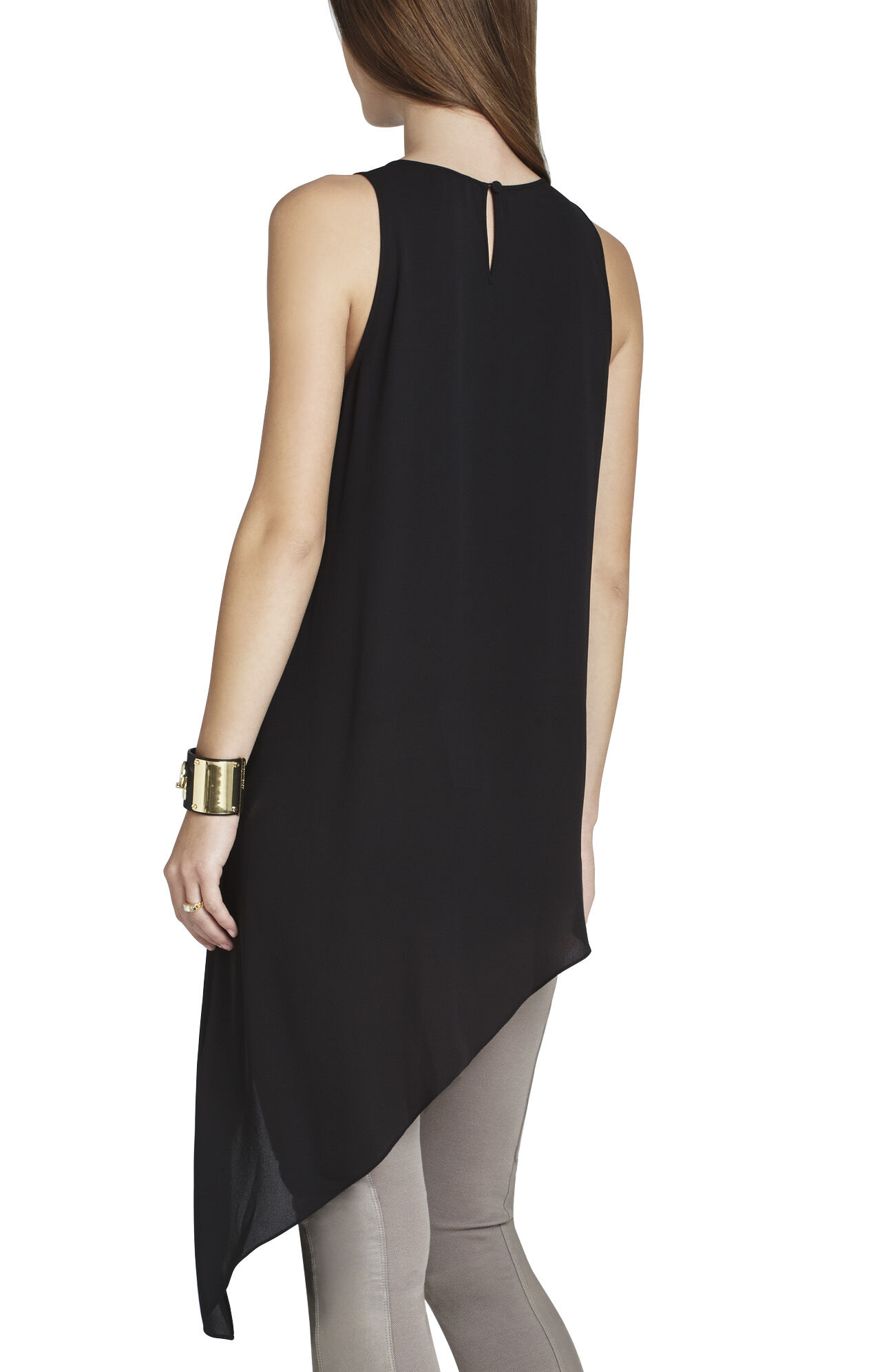 Kenda Sleeveless Asymmetrical Top