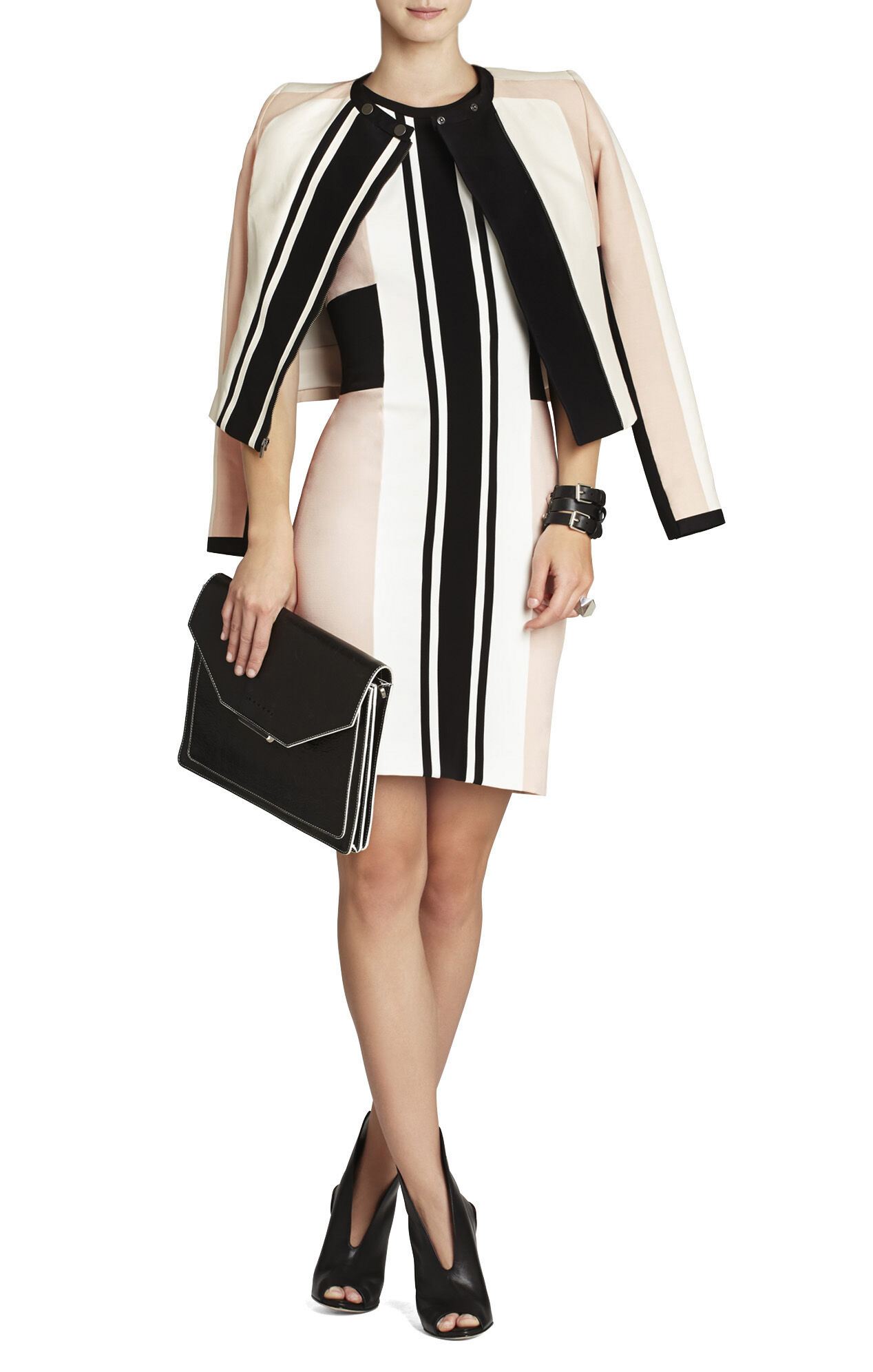 Eloise Color-Blocked Sheath Dress