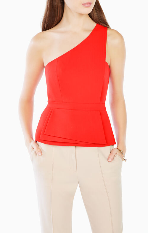 Kimberley One-Shoulder Peplum Top