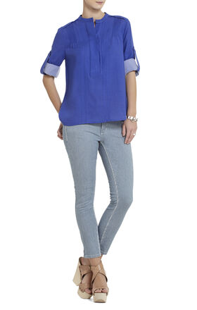 Mirte Long-Sleeve Pintuck Blouse