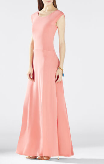 Evey Deep V-Back Maxi Dress