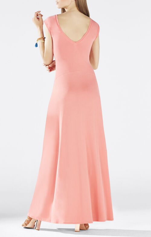 Evey Deep V-Back Maxi Dress