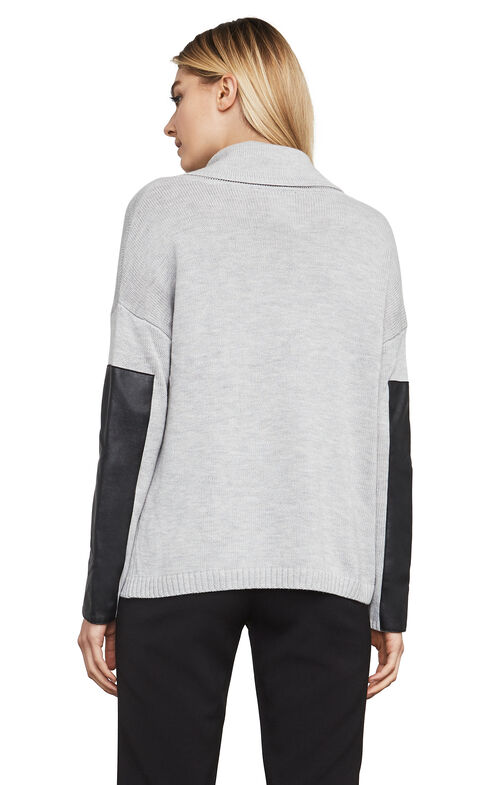 Melodi Color-Blocked Asymmetrical Pullover