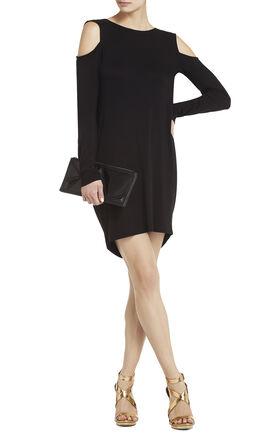 Bailey Open-Back Cold-Shoulder Dress