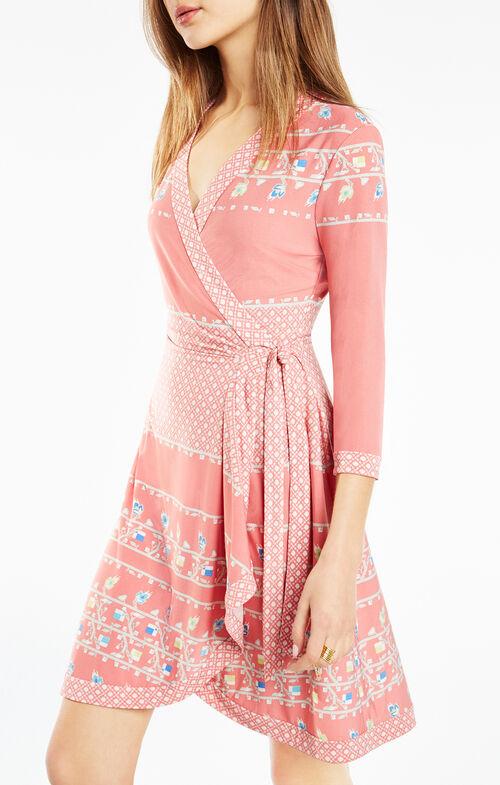 Adele Floral Print Wrap Dress