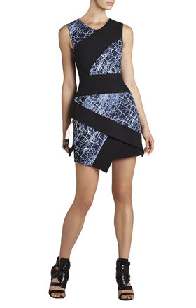 Dalia Sleeveless Asymmetrical Skirt Dress