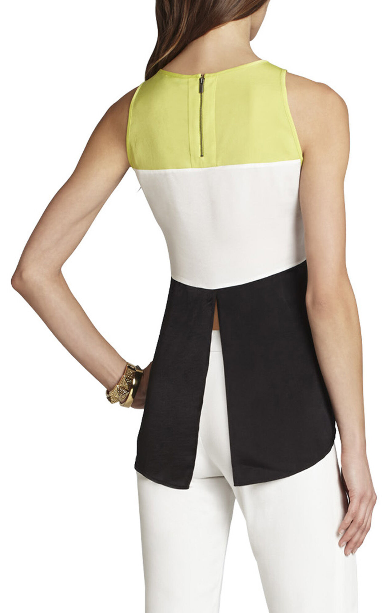 Lucie Blocked Sleeveless Top