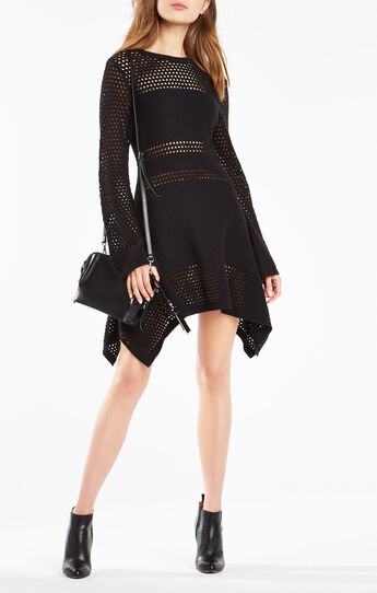 Undria Eyelet Sweater Dress
