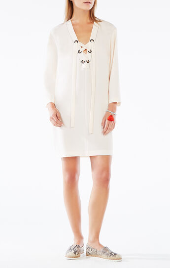 Tonya Lace-Up Tunic Dress
