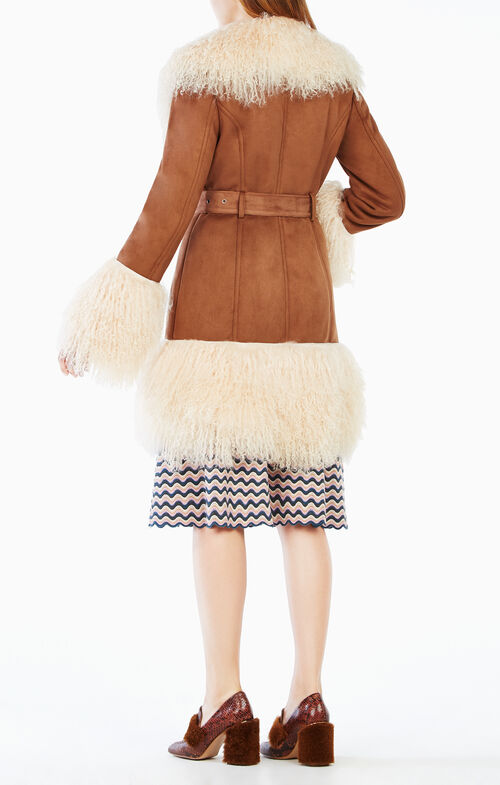 Gigi Shearling-Trim Coat