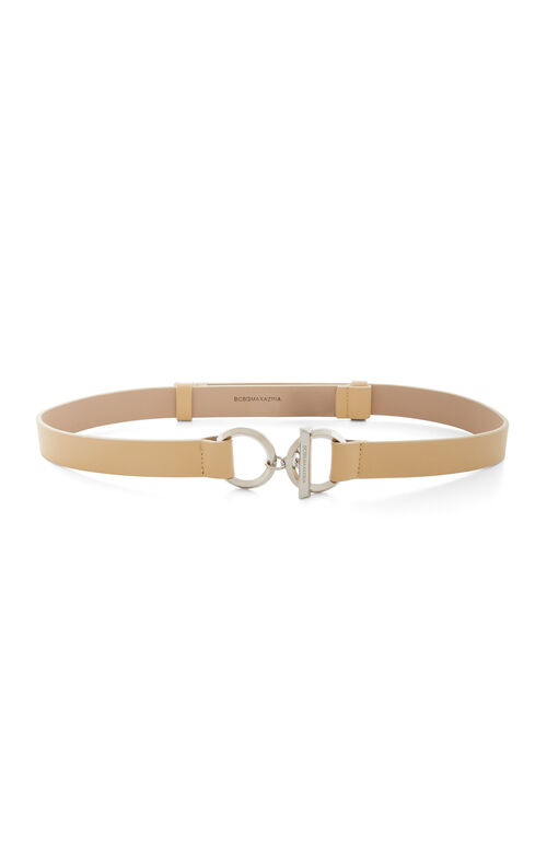 Toggle Faux-Leather Waist Belt