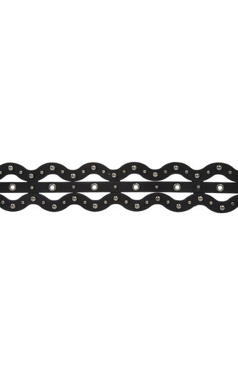 Metal Grommet Zigzag Belt