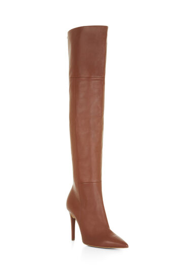 Abella High-Heel Over-The-Knee Leather Boots