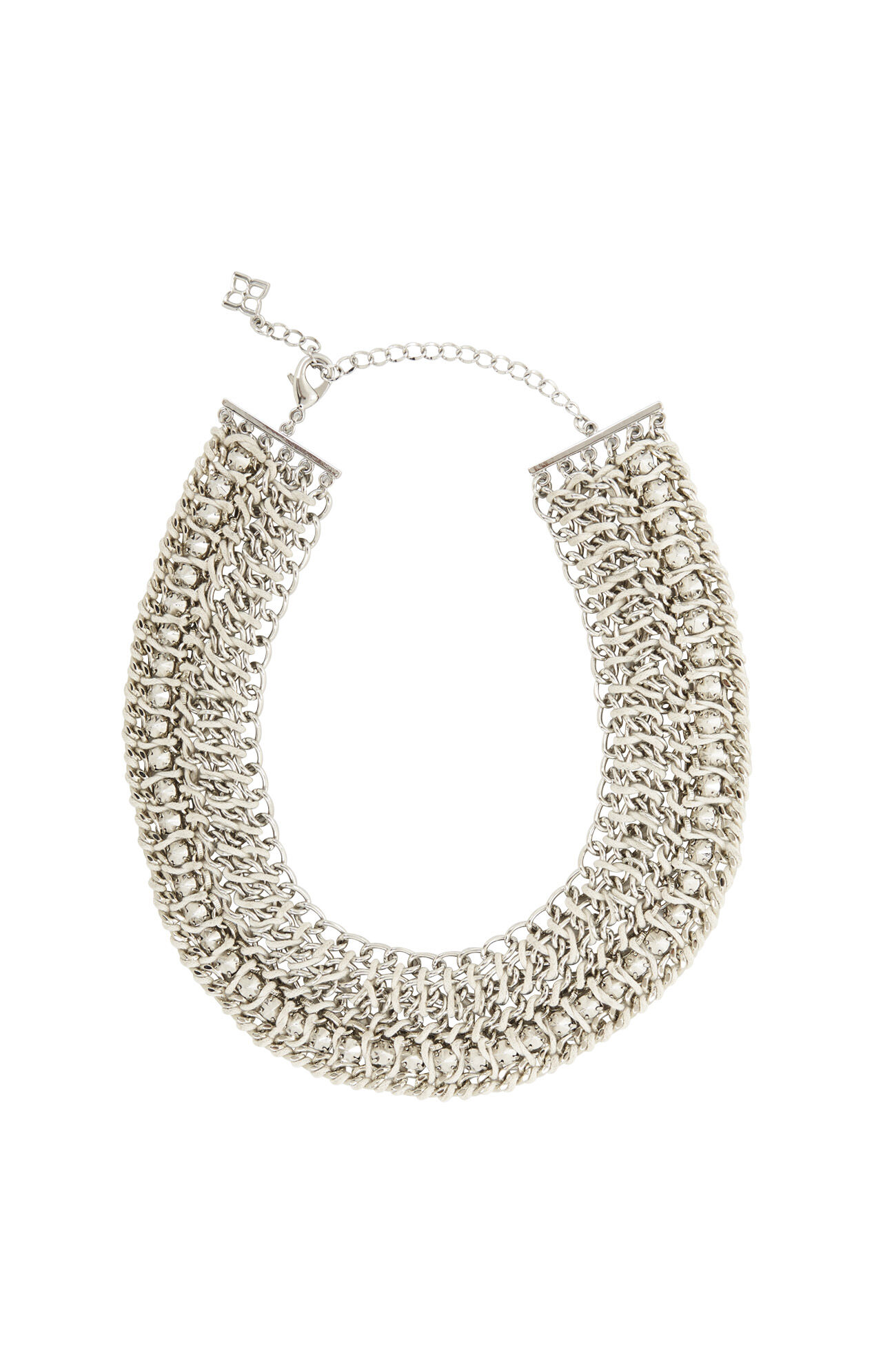 Woven-Chain Spike Necklace