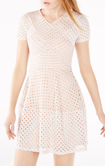 Elyze Lace-Blocked Dress