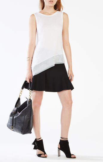 Renita Mesh Trim High-Low Top