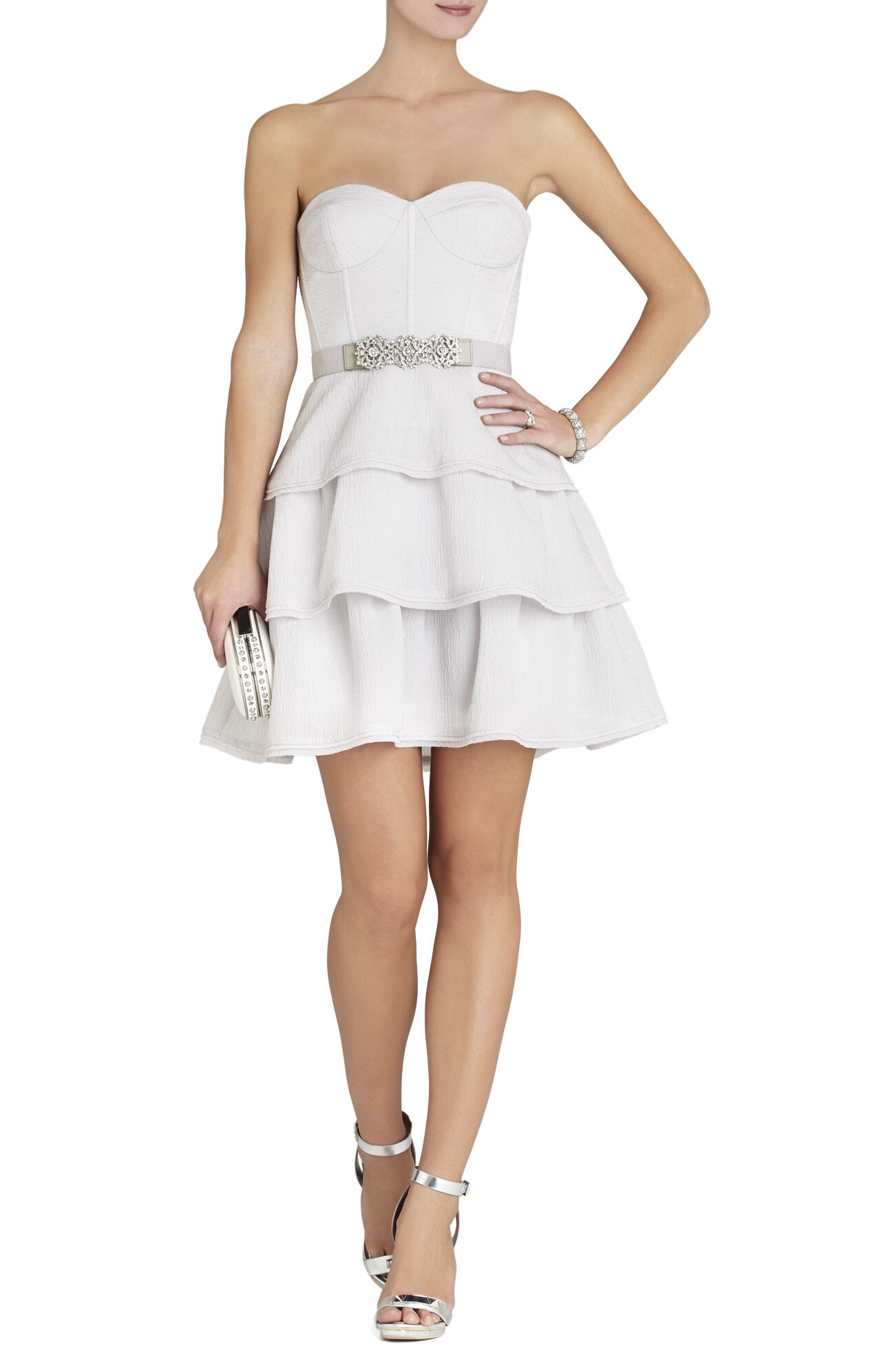 Jacklyn Tiered-Ruffle Sleeveless Dress