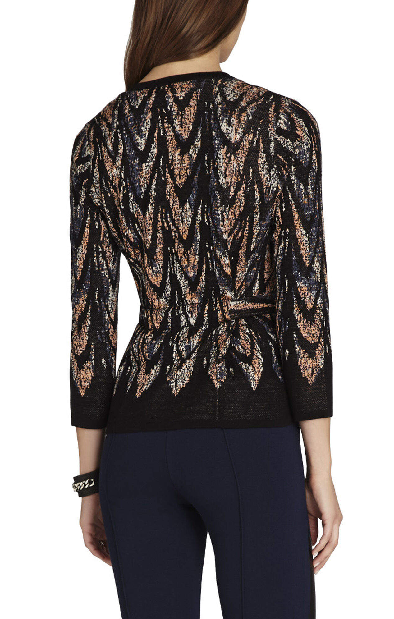 Adaline Feather Cascade Jacquard Jacket