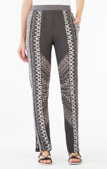 Ryen Geometric Print Straight-Leg Pant