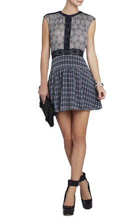 Aymeline Mixed-Print Dress