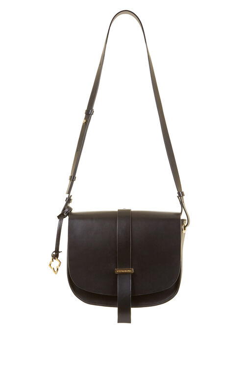 Aprille Medium Leather Saddle Bag