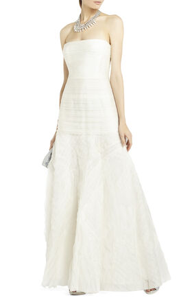 Marisa Long Layered Organza Gown