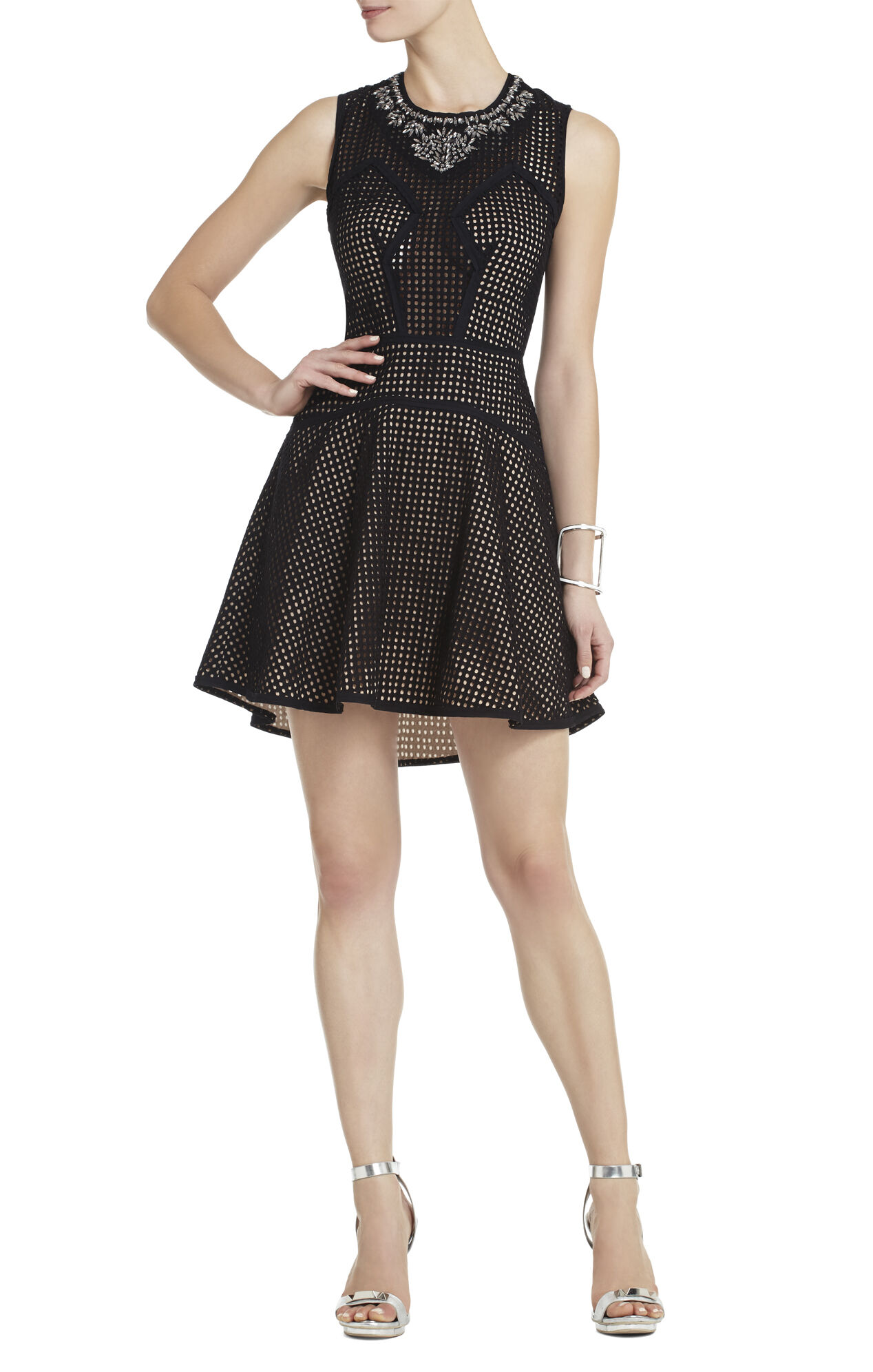 Serina Sleeveless Eyelet Dress