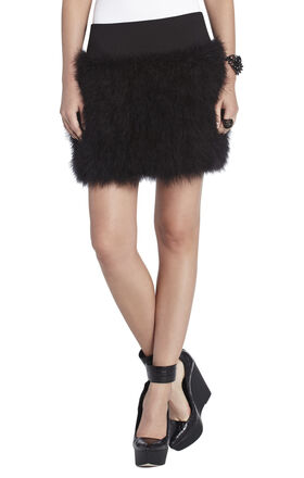 Michaela Marabou-Feather Skirt