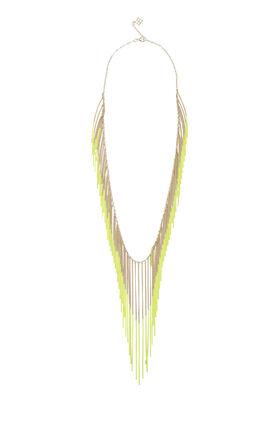 Neon Chain Fringe Necklace