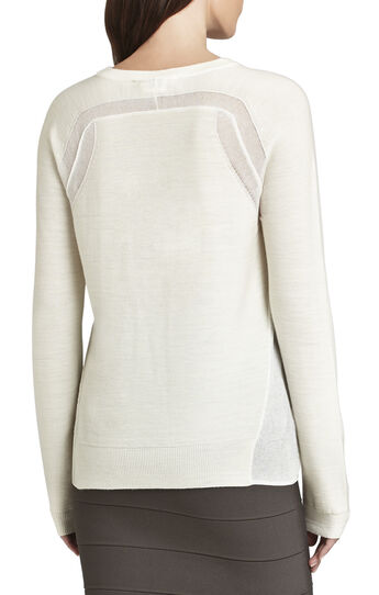 Audri Sheer Trim Pullover
