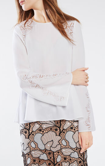 Chrystie Lace-Trim Top