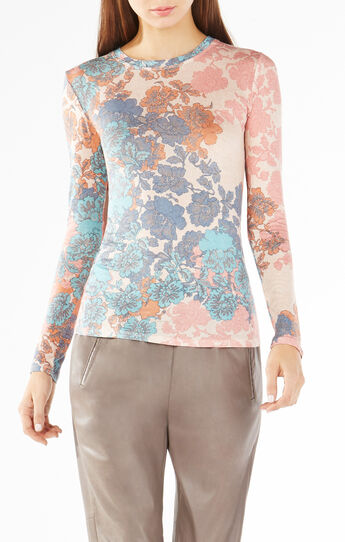 Agda Floral Lace Print Top